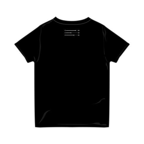 クボタカイ 刺繍 Tシャツ BLACK