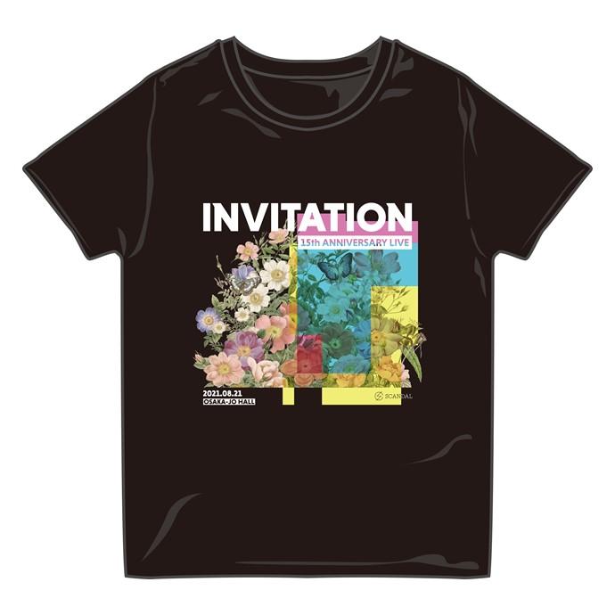 INVITATION Tシャツ BLACK