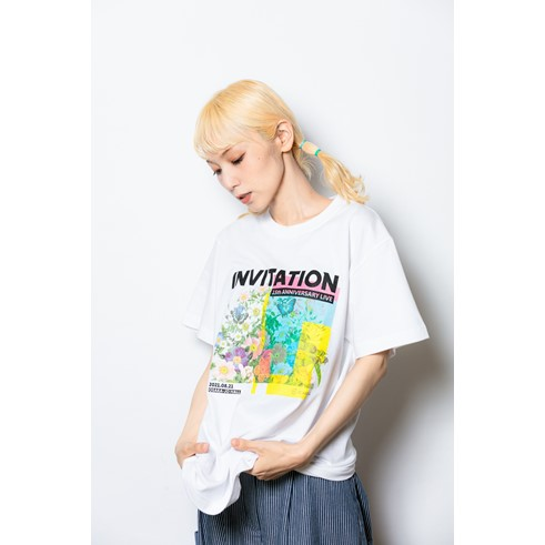 【MANIA会員限定】INVITATION Tシャツ WHITE