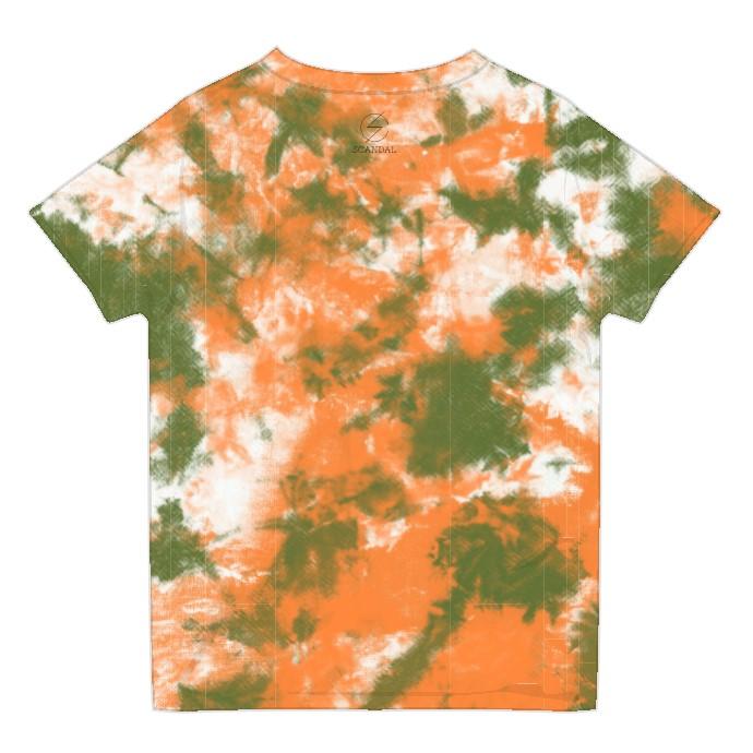 タイダイTシャツ KHAKI×ORANGE