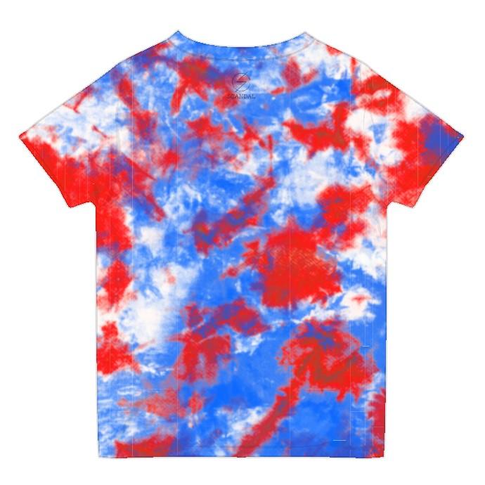タイダイTシャツ BLUE×RED