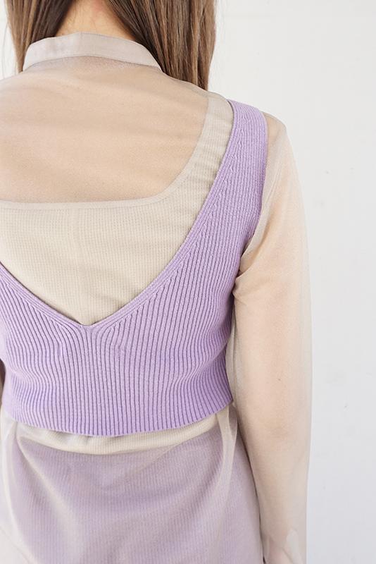 MIJEONG PARK Ribbed Knit Crop Top