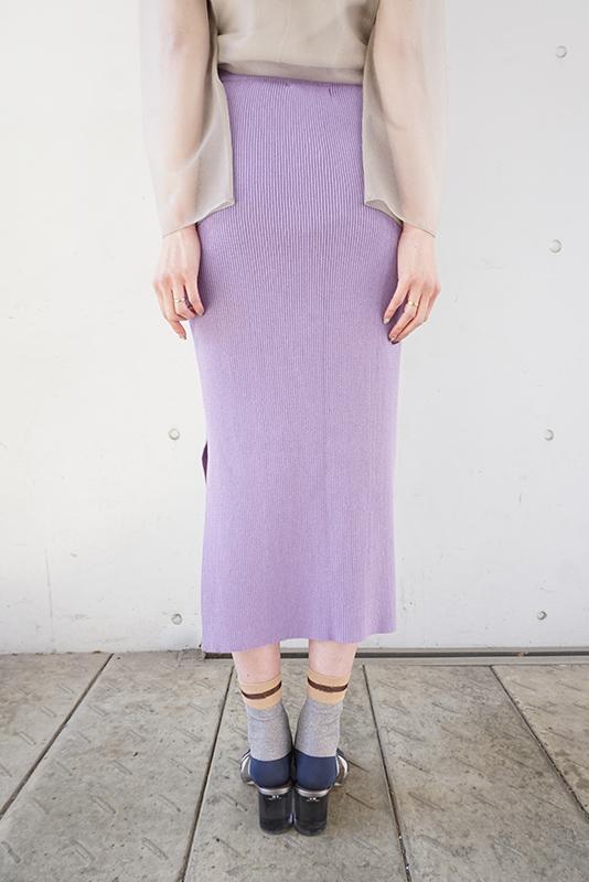 MIJEONG PARK Ribbed Knit Midi Skirt