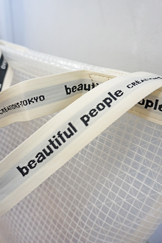 beautiful people ビニールロゴテープショルダーバック