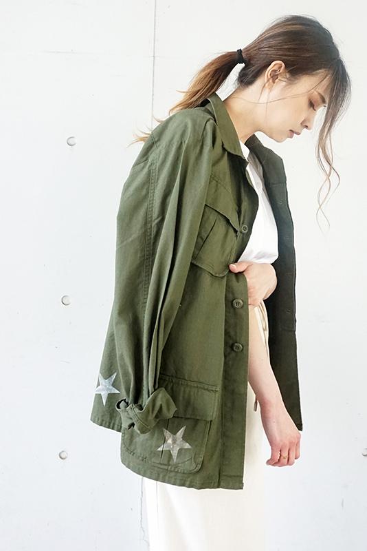 【SALE】Days リメイク刺繍ミリタリージャケット