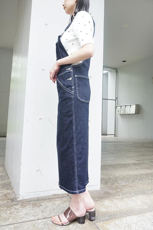 【SALE】SALT+JAPAN ストレッチデニムジャンパースカート