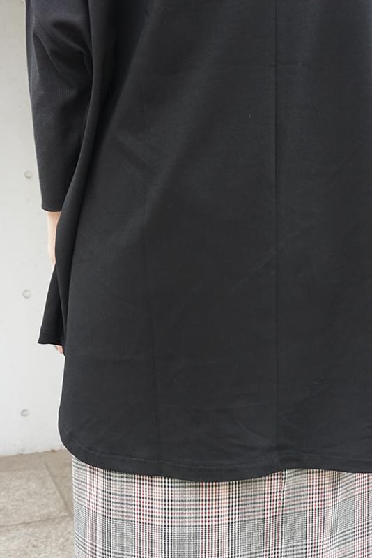 SUGAR ROSE カット×袖リブポンチョ