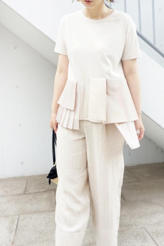 Eimee Law プリーツレイヤードTシャツ