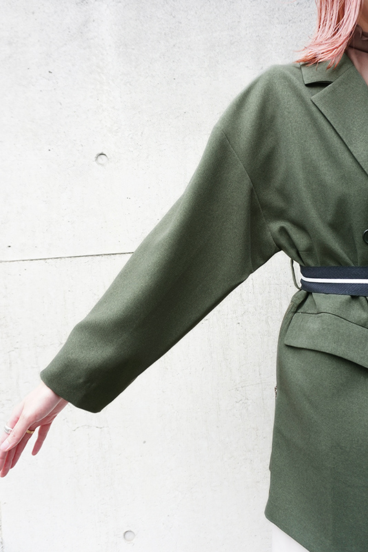 La SRIC サイドファスナーテーラードジャケット