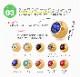 ボディピアス 選べる3サイズ 18G 16G 14G カラーストレートバーベル【18Kゴールド】ジュエルキャッチをお一つプレゼント!(1個売り)[通販]◆オマケ革命◆
