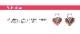 カスタマイズ チャーム ボディピアス 20G 18G 16G 14G ハートカラージュエル パーツ(1個売り)[通販]◆オマケ革命◆