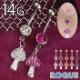 へそピアス 14G ボディピアス レアリティキノコ パヴェ(1個売り)[通販]◆オマケ革命◆