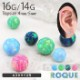 ボディピアス キャッチ 16G 14G シンセティックオパール キャッチ(1個売り)[通販]◆オマケ革命◆