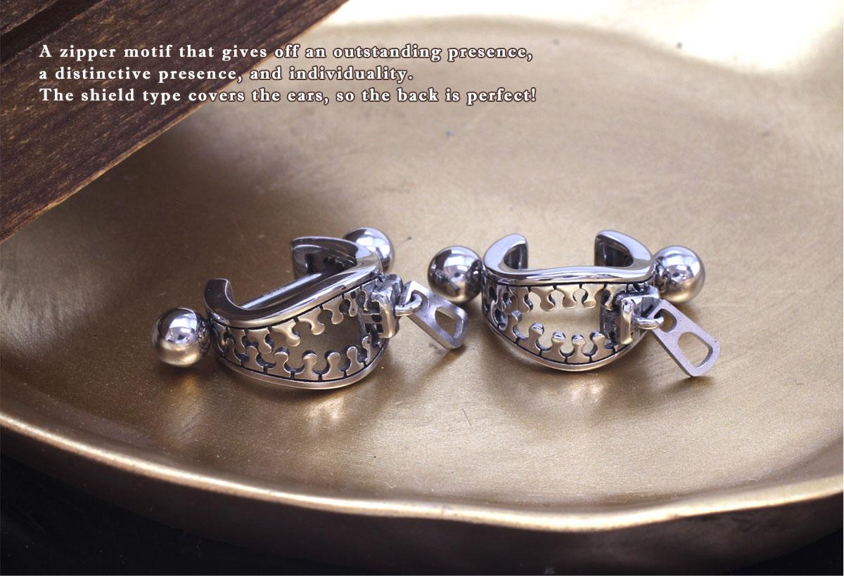 ボディピアス 18G 14G ジッパーモチーフ シールドボディピアス(1個売り)[通販]◆オマケ革命◆