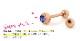 ストレートバーベル ボディピアス 選べる3サイズ 18G 16G 14G カラー【PVDピンクゴールド】ジュエルキャッチをお一つプレゼント!(1個売り)[通販]◆オマケ革命◆