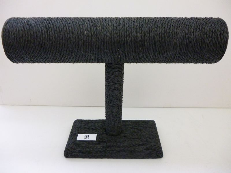 〔No.9773〕7月・8月SALE品ペーパーロープ ブレススタンド (黒、茶、ナチュラル)