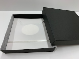 〔0000〕ブラックボックス(深型)(ネック+イヤリング・ピアス用)台紙黒・台紙白