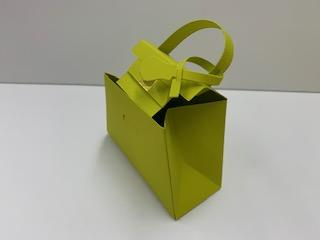 BAG型 箱紙 6個入り (ブラウン・オリーブグリーン・ゴールド)