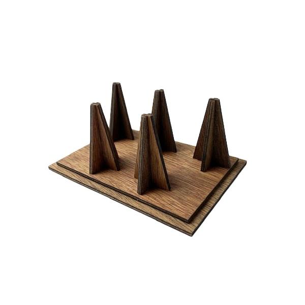 [No10267]木製リングDS リング5個用