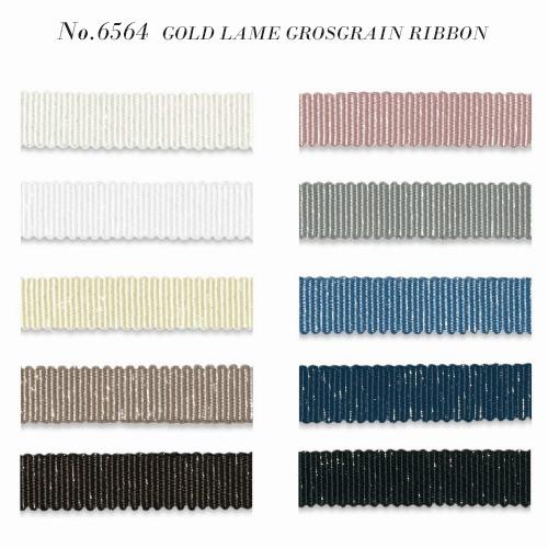 ラメ グログランリボン (6564-GOLD)