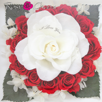 12輪のバラ〜誓いのバラ〜メッセージ・プリザーブドフラワー