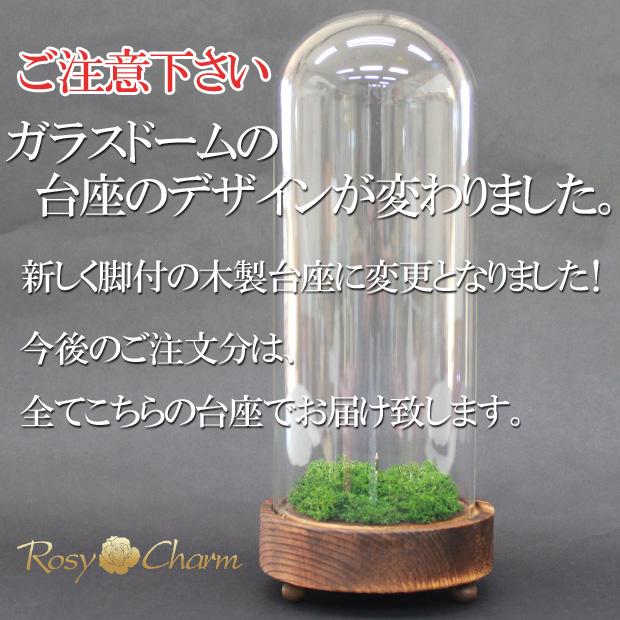 【ガラスドーム】ディスプレイ用(プリザーブドフラワー ステム付専用)