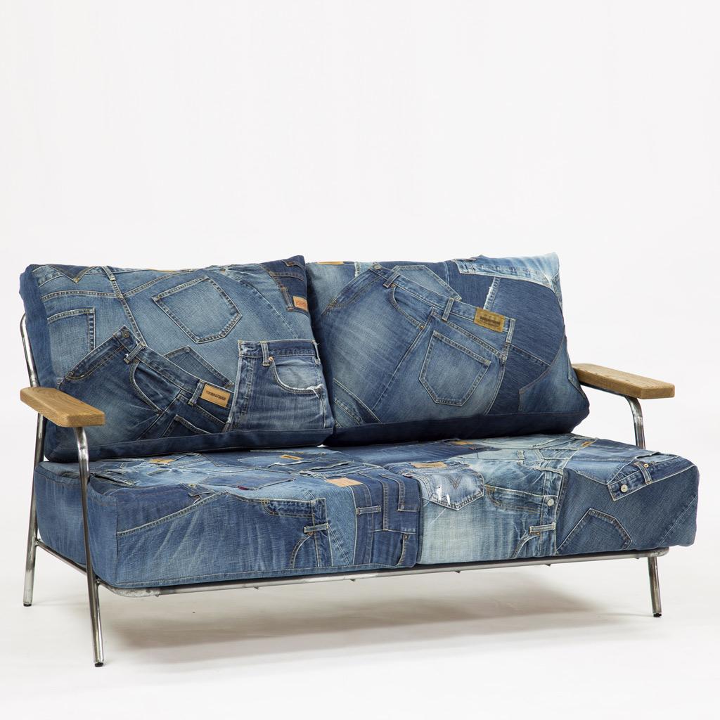 Denim Sofa Bench