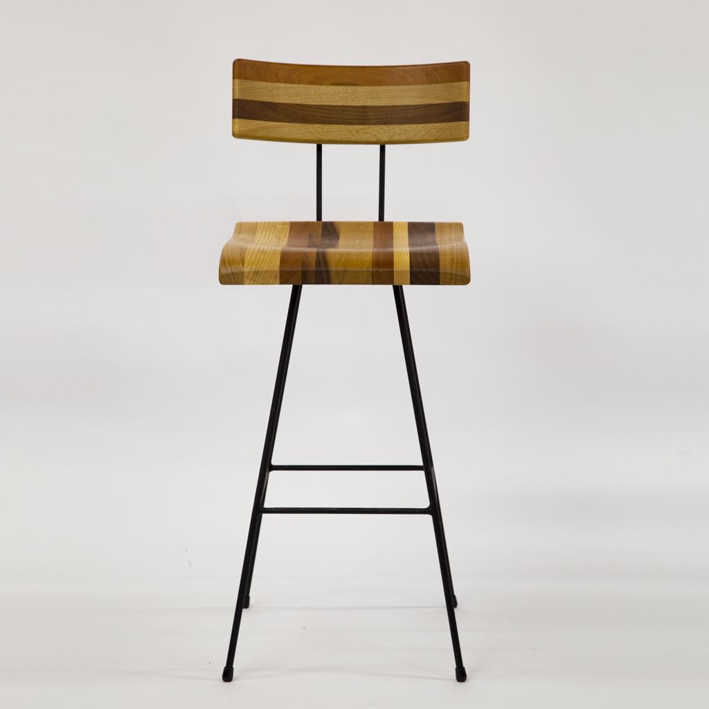 GENE Bar Chair 02 Wood Mix
