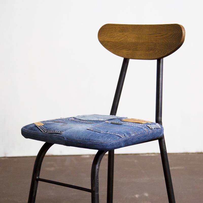 School Chair Denim Oak