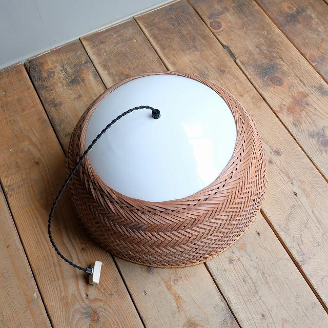 竹編みのペンダントライト 「竹のあかり 3灯」