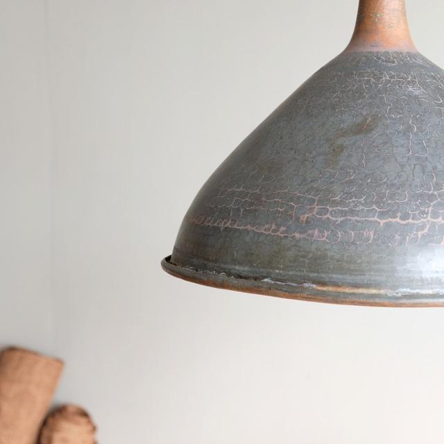 銅の漏斗 ペンダントライト 鎖