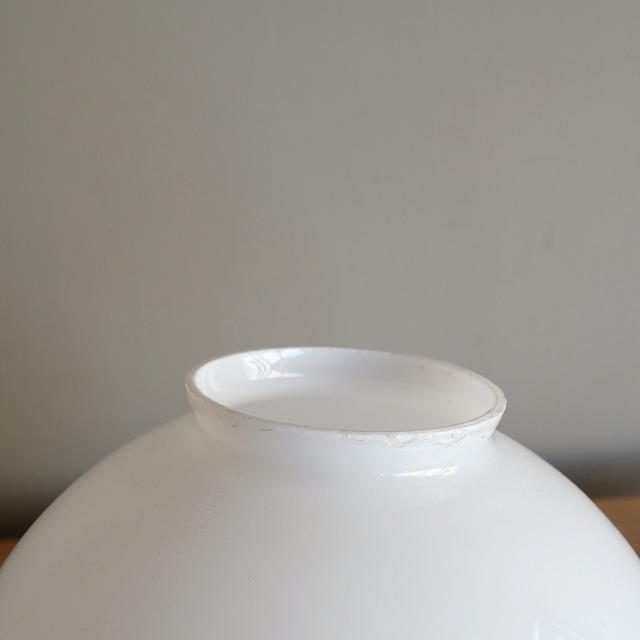 球体型乳白ガラス ペンダントライト (大)