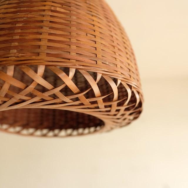 竹のペンダントライト