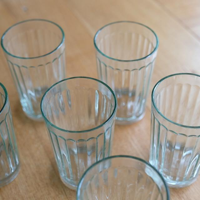 モールガラスのコップ (透明)