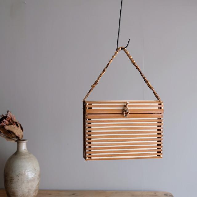 竹のハンドバッグ