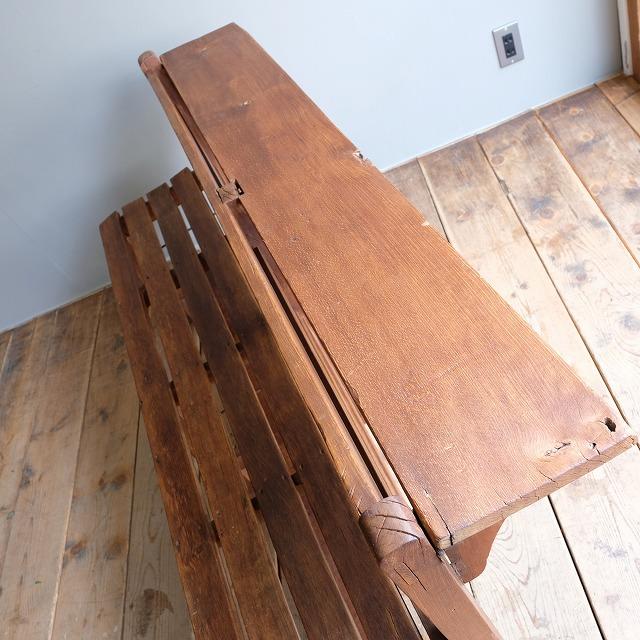 テーブル付き ウッドベンチ