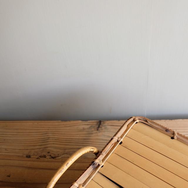 蓋付き竹籠