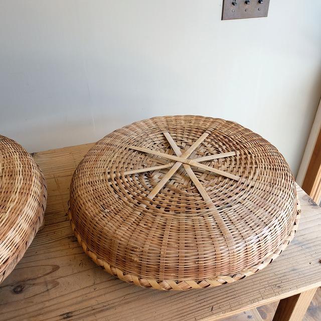 蓋付きの竹籠 2個セット