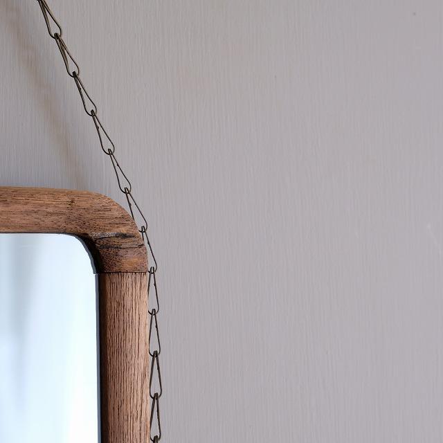 壁掛け鏡 鎖付き