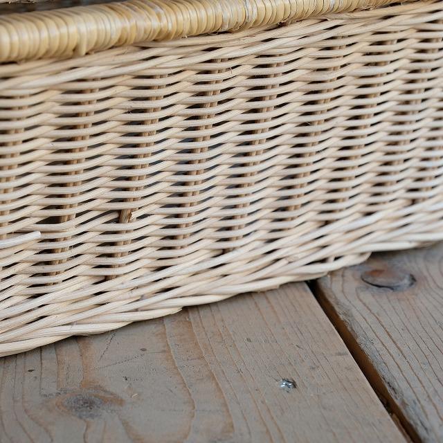 籐の脱衣籠 4個セット