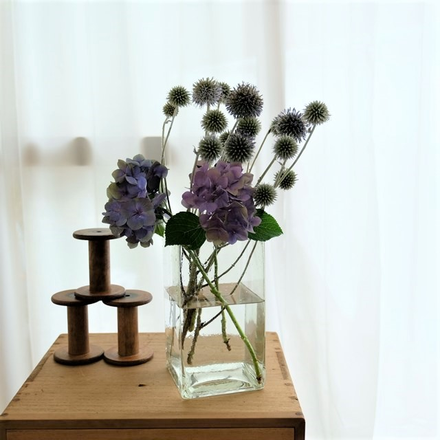 ガラス瓶 花器