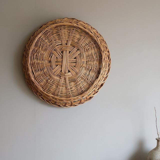 メゴ笹の丸籠