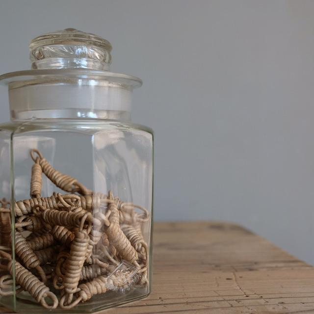八角形ガラス瓶 保存瓶