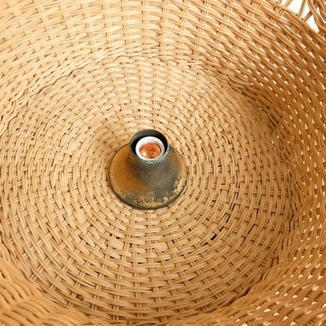 籐編み ペンダントライト