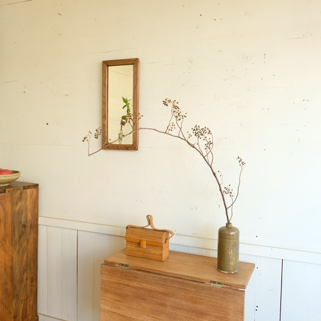 木枠フレーム 壁掛け鏡