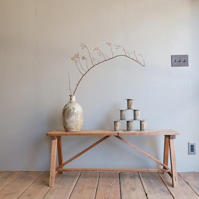 糸巻き 木×金属