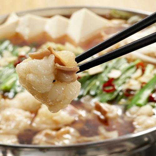 海千 もつ鍋(醤油味)2〜3人前 【冷凍】