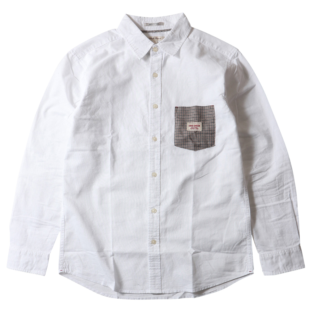 チェックポケット オックスフォード 長袖 レギュラーシャツ メンズ アメカジ