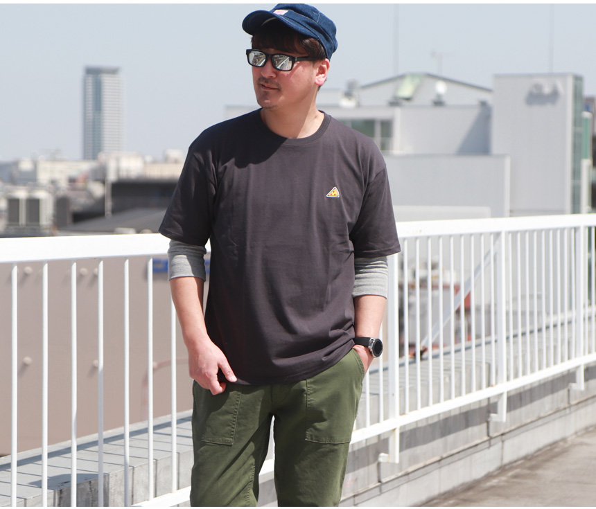 レトロアメリカン ダイナー PIZZA プリント 米綿 半袖 Tシャツ