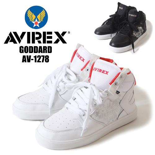 アビレックス AVIREX ゴダード GODDARD ミッドカット スニーカー 1278 アヴィレックス メンズ